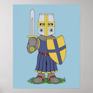 かわいい中世騎士 ポスター