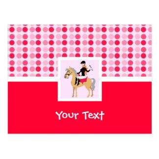 かわいい乗馬の女の子 ポストカード