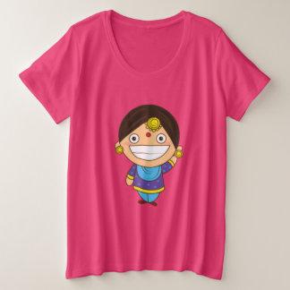 かわいい伯母さん! プラスサイズTシャツ