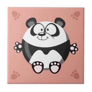 かわいい円のパンダ タイル