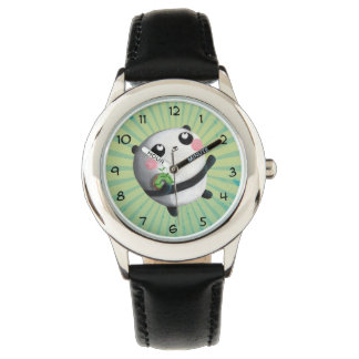 かわいい円形のパンダ 腕時計