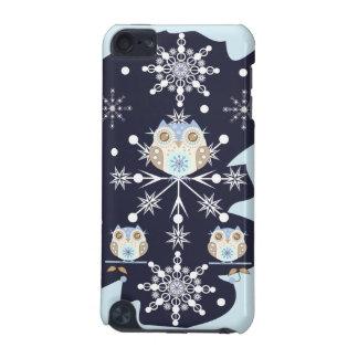 かわいい冬のフクロウおよび雪片 iPod TOUCH 5G ケース