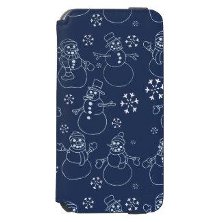 かわいい冬の雪だるま iPhone 6/6Sウォレットケース