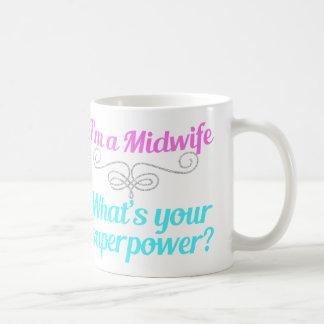 かわいい助産婦のスーパーヒーロー コーヒーマグカップ