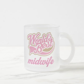 かわいい助産婦 フロストグラスマグカップ