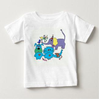 かわいい動物のTシャツ ベビーTシャツ