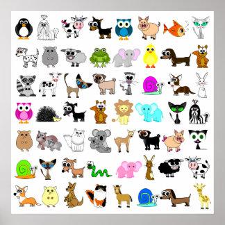 かわいい動物愛好家のプリント ポスター