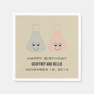 かわいい化学誕生日の紙ナプキン スタンダードカクテルナプキン