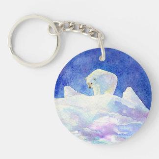 かわいい北極は雪に関係します キーホルダー