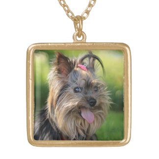 かわいい及びおもしろい犬のネックレス ゴールドプレートネックレス