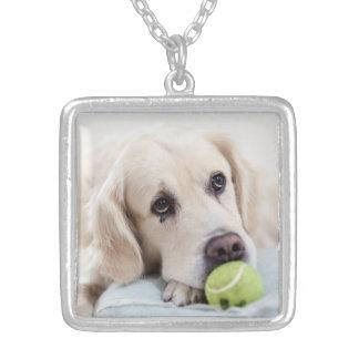 かわいい及びおもしろい犬のネックレス シルバープレートネックレス