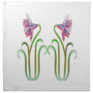 かわいい双生児によっては100個のギフトの絵の芸術が開花します ナプキンクロス