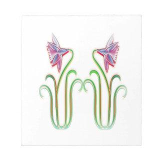 かわいい双生児によっては100個のギフトの絵の芸術が開花します ノートパッド