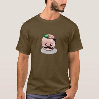 かわいい口ひげのモモ Tシャツ