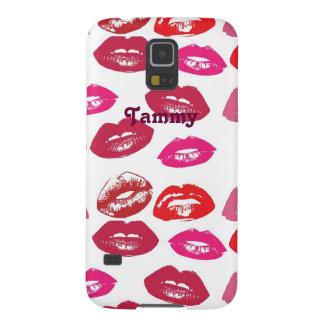 かわいい口紅はSamsungの銀河系S5の箱に接吻します Galaxy S5 ケース
