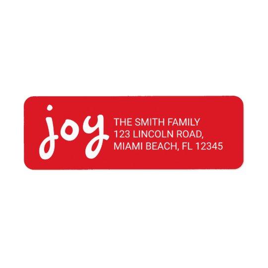 かわいい喜び|およびおもしろいの赤いクリスマスの休日 ラベル