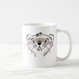かわいい喜劇的なフェレットの顔 コーヒーマグカップ