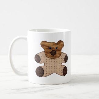 かわいい国スタイルのテディー・ベアの新生児 コーヒーマグカップ