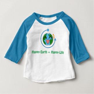 かわいい地球-子供のRaglanのワイシャツ ベビーTシャツ
