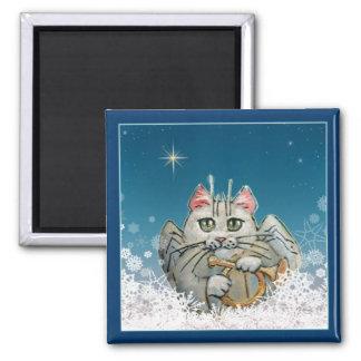 かわいい天使猫のクリスマスの磁石 マグネット
