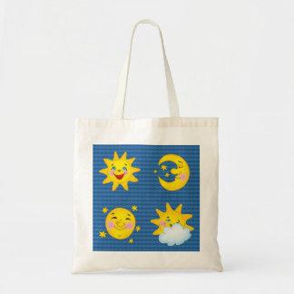 かわいい太陽及び月-バッグ トートバッグ