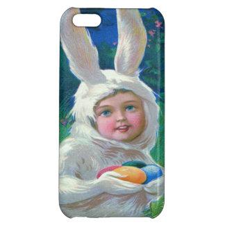 かわいい女の子のイースターのウサギの衣裳分野 iPhone5C カバー