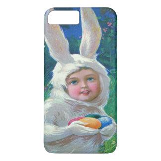 かわいい女の子のイースターのウサギの衣裳分野 iPhone 8 PLUS/7 PLUSケース