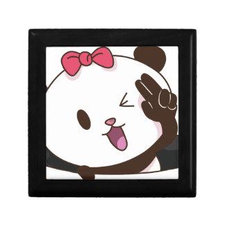 かわいい女の子のパンダのOK! ギフトボックス