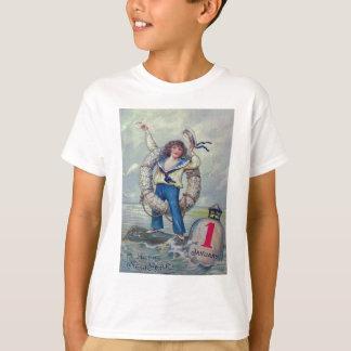 かわいい女の子の船員のブイの投球のリング Tシャツ