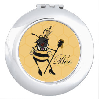 かわいい女王バチの蜜蜂の巣の円形の密集した鏡