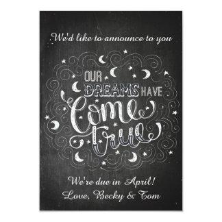 かわいい妊娠の発表 カード