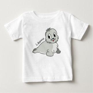 かわいい子どものアシカ ベビーTシャツ