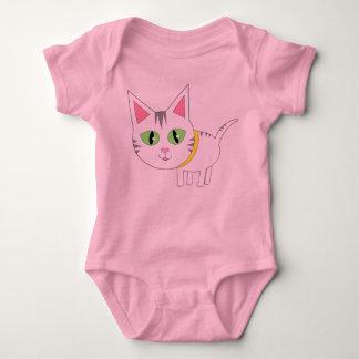 かわいい子ネコのベビー ベビーボディスーツ