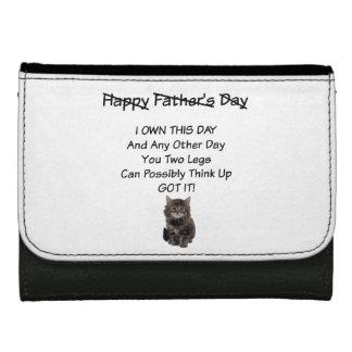 かわいい子ネコの父の日の革財布