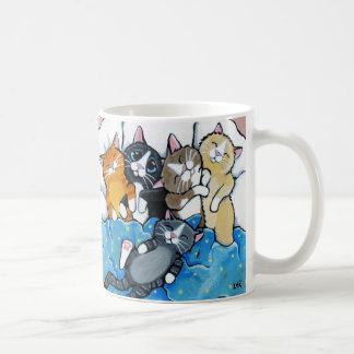 かわいい子ネコのSleepoverの絵 コーヒーマグカップ