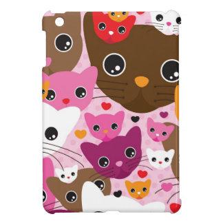 かわいい子ネコ猫の背景パターン iPad MINI カバー