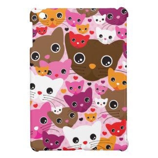 かわいい子ネコ猫パターンipadの小型場合 iPad miniケース
