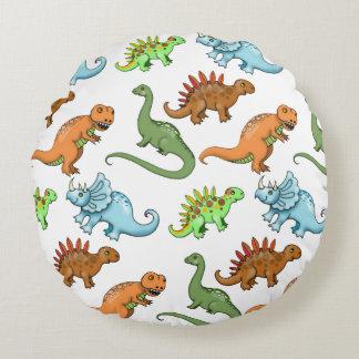 かわいい子供の恐竜の枕 ラウンドクッション