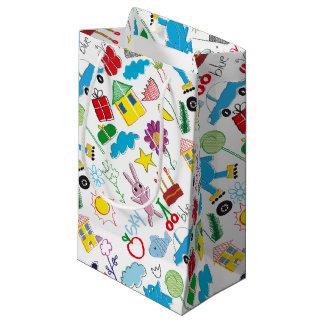 かわいい子供の落書きパターンパーティーの供給 スモールペーパーバッグ