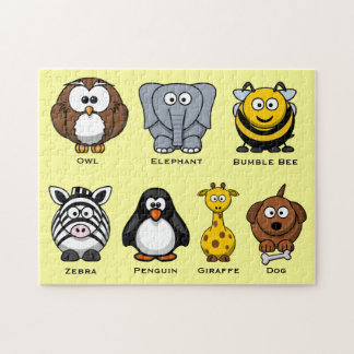 かわいい子供ABCの漫画によって分類される動物 ジグソーパズル