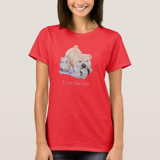 かわいい子犬のおもしろいのスローガンを用いるshar pei犬の芸術のデザイン tシャツ