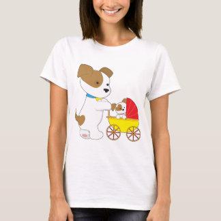 かわいい子犬の乳母車 Tシャツ