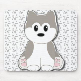 かわいい子犬の漫画 マウスパッド