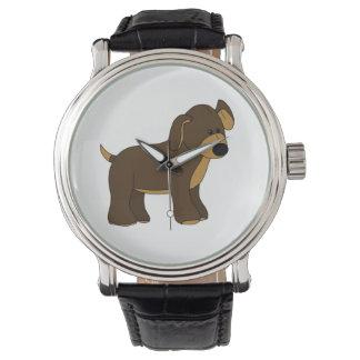 かわいい子犬の腕時計 腕時計