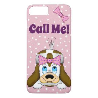 """かわいい子犬は""""私を""""携帯電話の箱と電話します iPhone 8 PLUS/7 PLUSケース"""