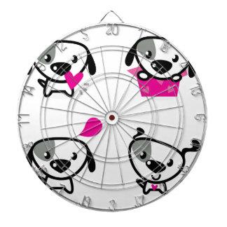 かわいい子犬座: 白いピンク ダーツボード