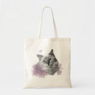 かわいい子猫のバッグ トートバッグ