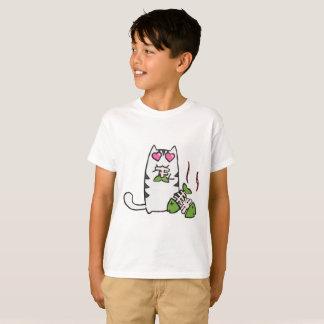 かわいい子猫はTシャツをからかいます Tシャツ