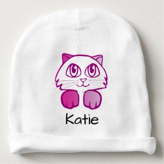 かわいい子猫猫のカスタマイズ可能な一流の帽子 ベビービーニー