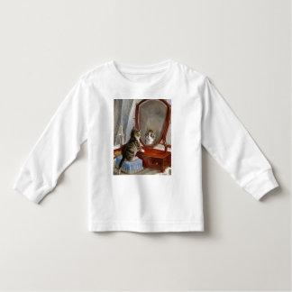 かわいい子猫猫のヴィンテージの芸術の幼児のティー トドラーTシャツ